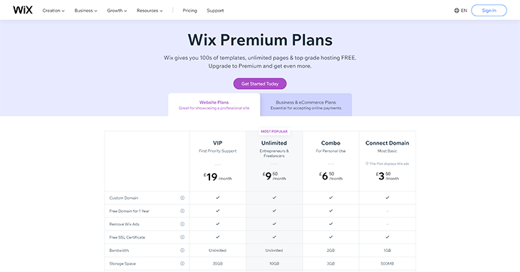 wix-basic-pricing